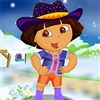 Dora Explorer Winter Dressup Spiel