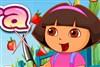 Dora coupe fruits jeu