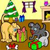 Doggy Christmas Coloring game