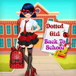 Dotted Girl Back To School juego