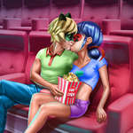 Dotted Girl Cinema Flirting game
