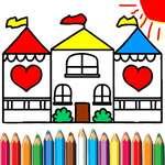 Кукла къща за оцветяване игра
