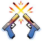 Двоен пистолет игра