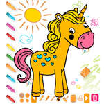 Kreslenie sfarbenie zvierat hra
