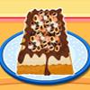 Jednoduché Mocha čip zmrzlina tortu hra
