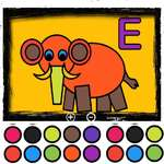 Easy Kids Coloring Letters game