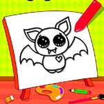 Easy Kids Coloring Bat game