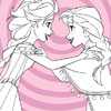 Elsa et Anna congelés Coloriage jeu