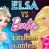Elsa vs Barbie Fashion Contest game