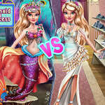 Ellie Mermaid Vs Princess joc