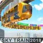 Verhoogde trein rijden Simulator Sky Tram Driver spel