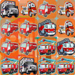 Emergency Trucks Match 3 game