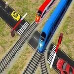 Euro Trecerea de cale ferată Tren de cale ferată trece 3D joc