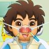 Esplora ragazzo naso medico gioco
