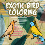 Exotic Birds Coloring game