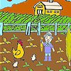 Farmer and vegetables coloring game