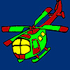 Fast vacation helicopter coloring game