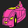 Schnell futuristisches Auto Färbung Spiel
