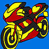 Fast cross motorbike coloring game