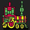 Hızlı kırmızı tren boyama oyunu