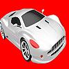 Más rápido para colorear coche plata juego