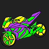 Fascinating and fast motorcycle coloring game