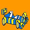 Hızlı çizgili yarış araba boyama oyunu