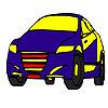 Schnell blau Modell Auto Färbung Spiel