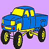 Colorear jeep de montaña rápida juego