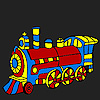Fast colorful locomotive coloring game