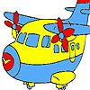Fast cute airplane coloring game