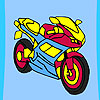 Fast racer motorbike coloring game