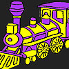 Coloriage de train rapide purple jeu