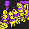 игра Быстро фиолетовый поезд окраску
