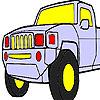 Colorear jeep rápido juego