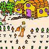 Farmer in the big field coloring game