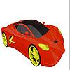 Colorear coche rápido intenso juego