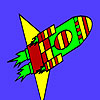 Fast missile in space coloring game