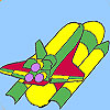Fast spaceship coloring game