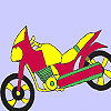 Fast school motorbike coloring game