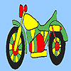 Fast colorful motorbike coloring game