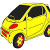 Fast wheel car coloring game