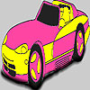 Fabulous pink car coloring game