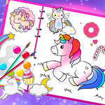Fabulos Cute Unicorn Carte de colorat joc