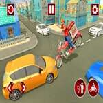 Fast Pizza Delivery Boy Juego 3D