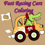 Fast Racing Cars Coloring game