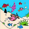 Fishes in the sea coloring game