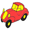 First red car coloring game
