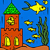 Fish village coloring game