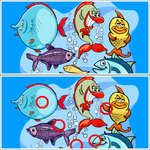 Differenze di pesce gioco